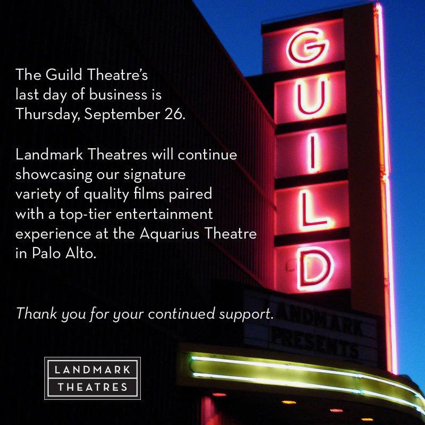 Spotted: Curtain time for Guild Theatre in Menlo Park