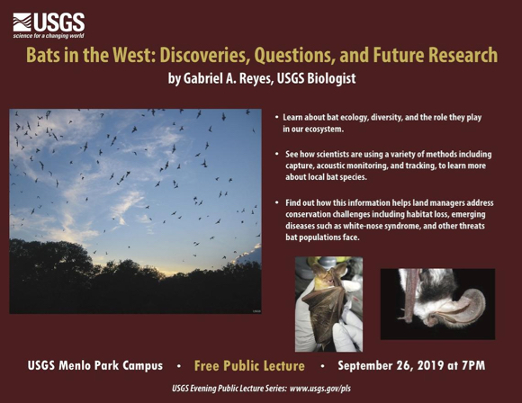 """Bats in the West"" is USGS lecture topic on Sept. 26"