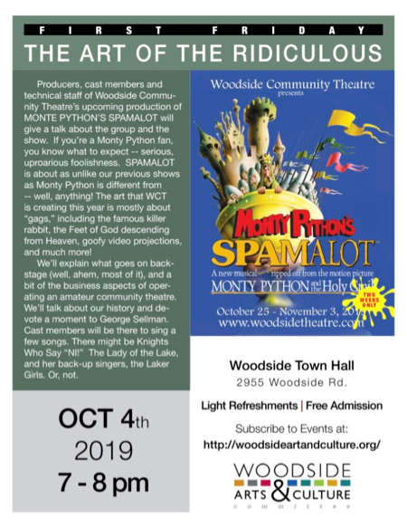 Woodside Community Theatre is spotlighted at First Friday event on Oct. 4