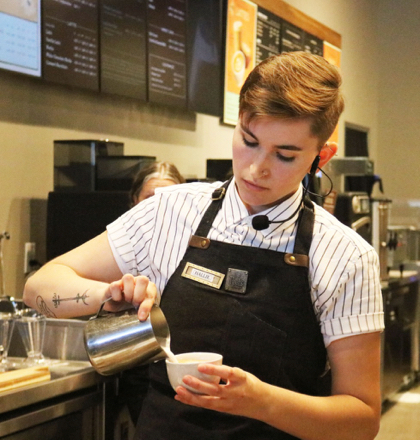 Hallie Mrizek from Peet's Menlo Park wins the 2019 Barista Competition
