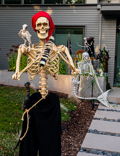Spotted: Pirate skeleton with a karaoke bent