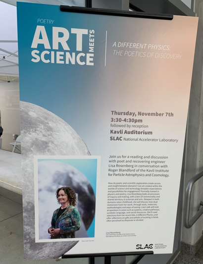 """Art meets science when Lisa Rosenberg tackles """"A Different Physics: The Poetics of Discovery"""""""