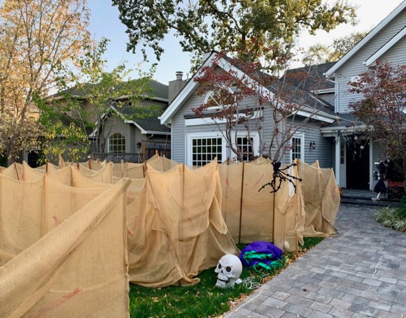Spotted: Bigger and better Halloween maze on Vine St.