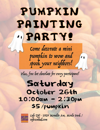 Cafe Zoë hosts pumpkin painting party on Oct. 26