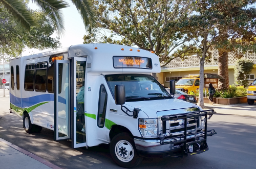 Get around town using the City of Menlo Park's free shuttle system