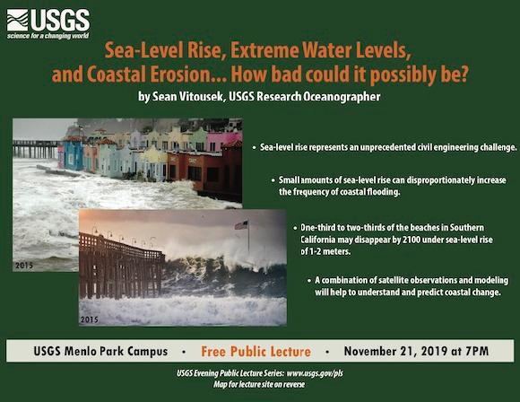 USGS free public lecture looks at sea level rise and coastal erosion on Nov. 21