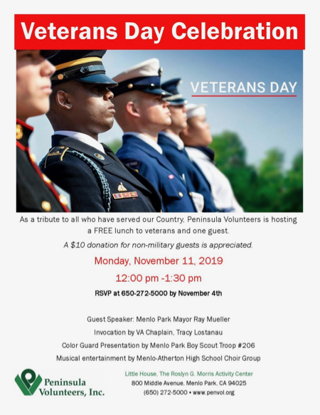 Reserve now to attend Veterans Day lunch at Little House on Nov. 11
