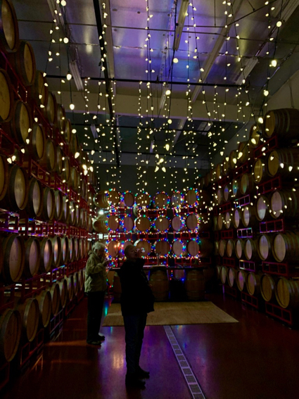 Barrel tasting at Woodside Vineyards is great antidote to holiday bustle