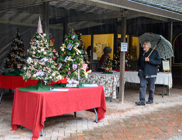 Spotted: Festive trees at Allied Arts Christmas market