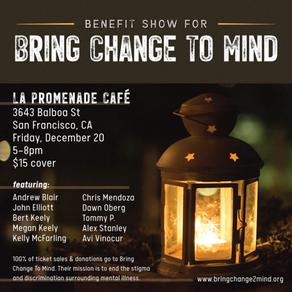 Megan and Bert Keely performing at benefit concert Dec. 20