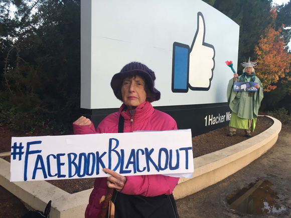 Spotted: Local Raging Grannies participating in #FacebookBlackout days