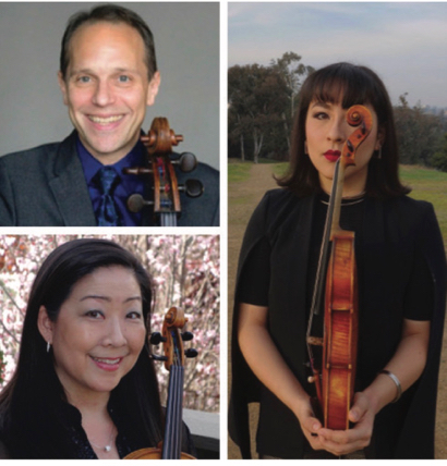 The Costanza-Fong Family String Trio performs at Woodside's First Friday on Jan. 3