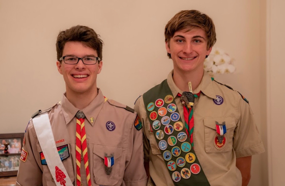 Two local teens from Troop 206 earn Eagle Scout status