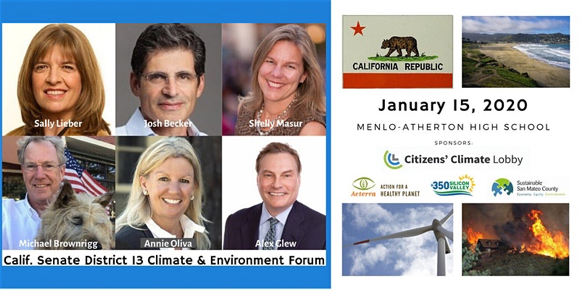 Hear from the candidates for Senate District 13  at a Climate and Environment Forum