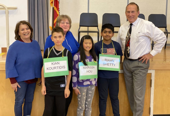 Champs of the 2020 Encinal Spelling Bee