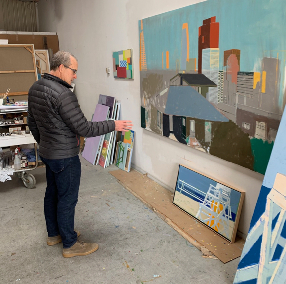New paintings by artist Mitchell Johnson on display in Menlo Park in February