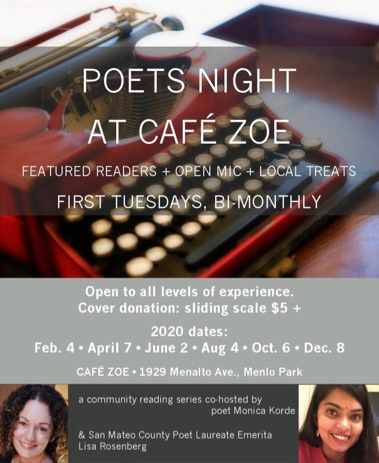 Poets Night returns to Café Zoë on Feb. 4 – and continues every other month