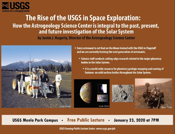 Learn about the USGS role in space exploration on Jan. 23
