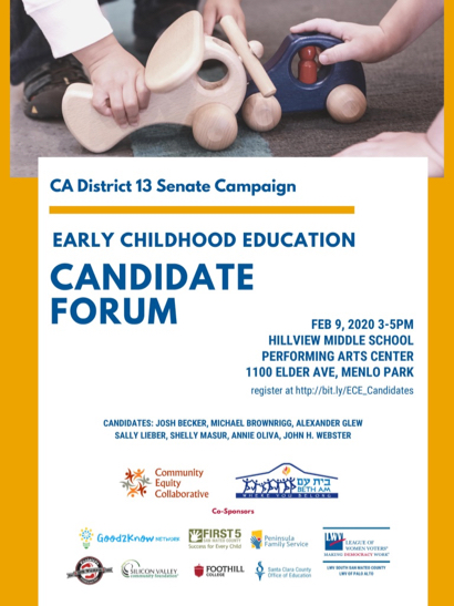 Early Childhood Education Forum with CA District 13 Senate candidates set for Feb. 9