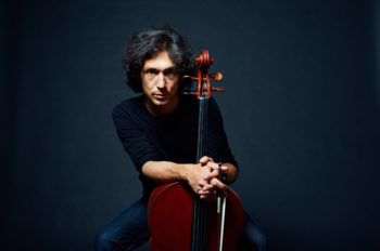 Cellist Ian Maksin performs at Menlo College on Feb. 5