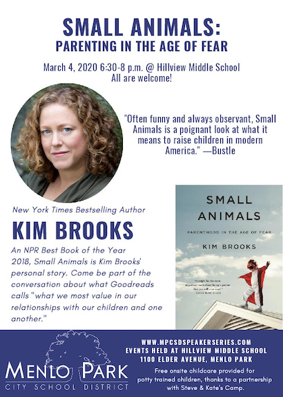 Author Kim Brooks discusses her book – Small Animals: Parenthood in the Age of Fear – on March 4