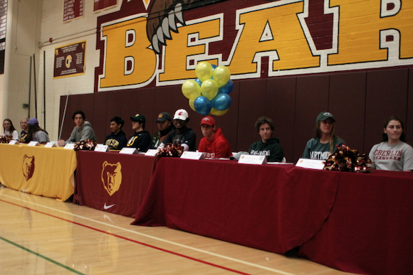 """""""Signing Day"""" at M-A celebrates 16 college bound student athletes"""