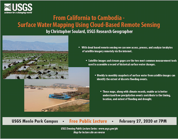 Next USGS public lecture focused on surface mapping using cloud-based remote sensing