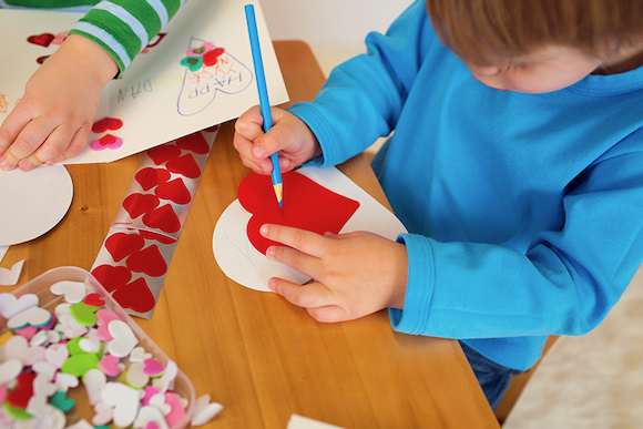 It's Valentine craft week at Menlo Park Library