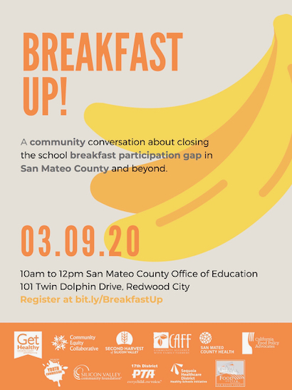 Community conversation about closing the school breakfast gap on March 9