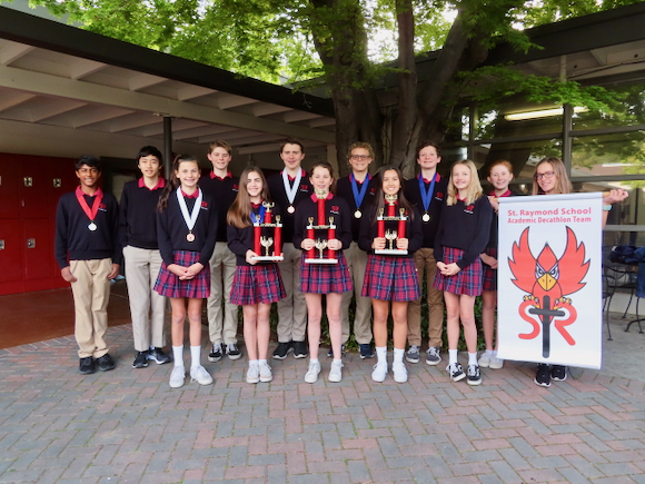 St. Raymond School Academic Decathlon team takes first place