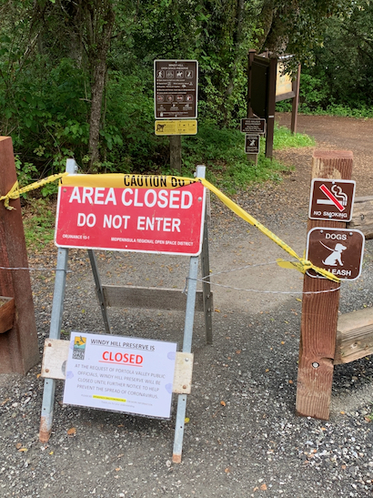 "Spotted: Signs-of-the-times #5 – ""AREA CLOSED"""