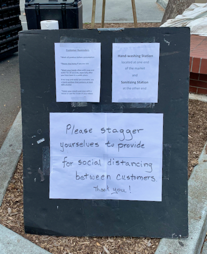 """Spotted: Signs-of-the-time #1: """"stagger yourselves"""""""