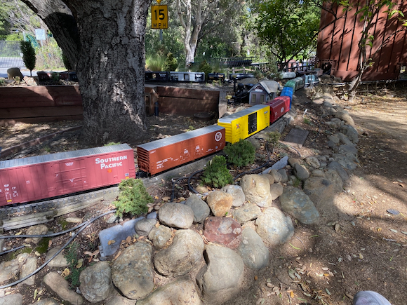 Spotted: Camarillo Pacific Railroad delighting neighborhood children