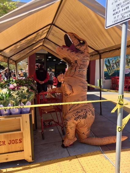 Spotted: Dinosaur shopping at Trader Joe's