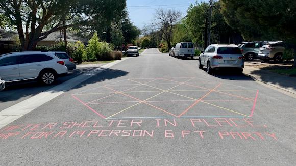 Neighborhood walking: Math street art near the Dutch Goose