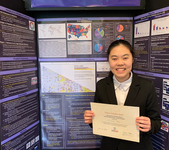 M-A student Audrey Ha is USAID Science Champion