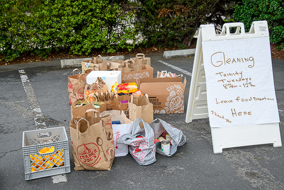 """Season of Gleaning"" weekly food drive organized by Trinity Church in Menlo Park"