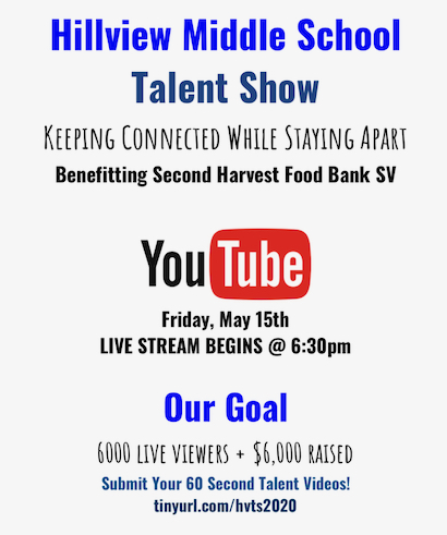 The annual Hillview Talent Show goes virtual on May 15
