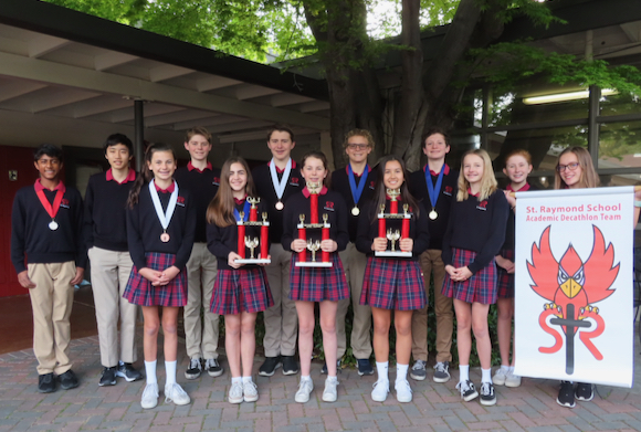 St. Raymond School Academic Decathlon Team places third in national rankings