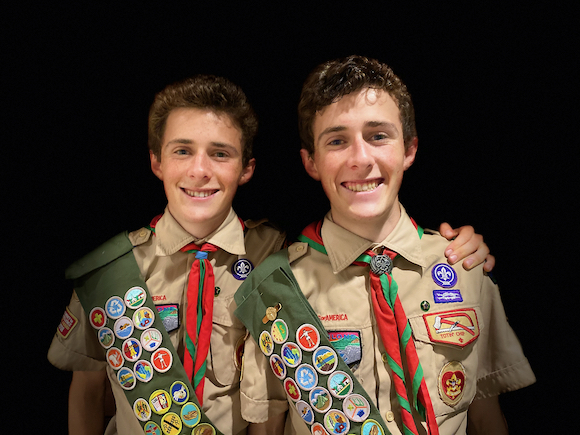 Topper twins earn Eagle Scout rank – trail running inspired their projects