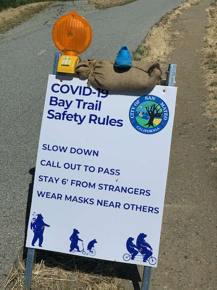 Spotted: Signs-of-the-Times: COVID-19 Bay Trail Safety Rules