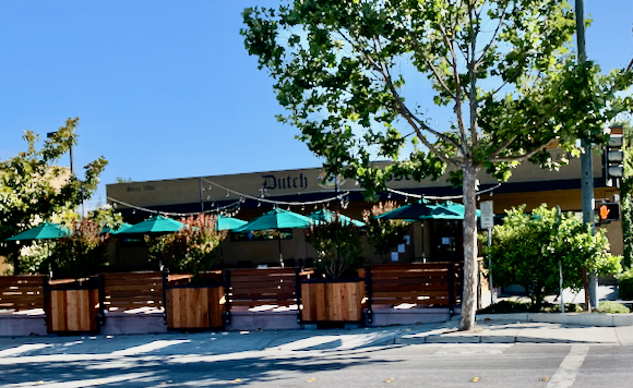 Spotted: Great new outdoor dining patio at Dutch Goose