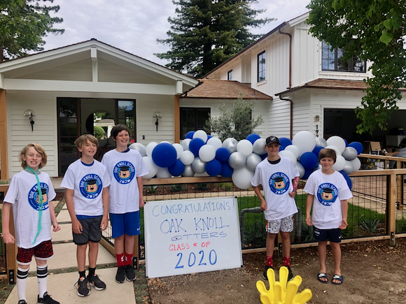 Spotted: Oak Knoll 5th graders celebrating graduation