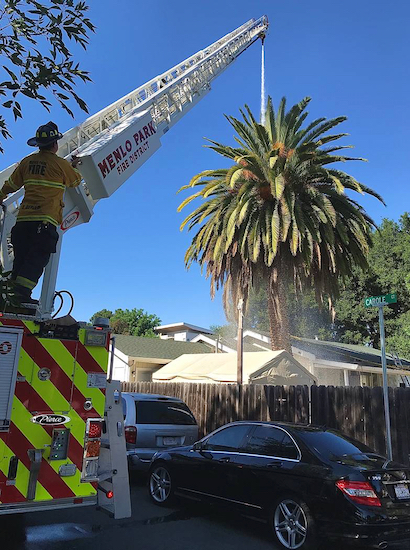 Menlo Park firefighters respond to three different fires on Thursday afternoon