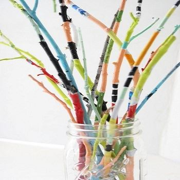 Create a painted twig bouquet on July 16