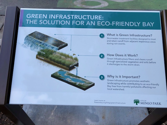 Spotted: New story board about Menlo Park's Green Infrastructure Plan