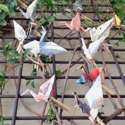 Peace Cranes project in Menlo Park commemorates the 75th anniversary of Hiroshima/Nagasaki bombings