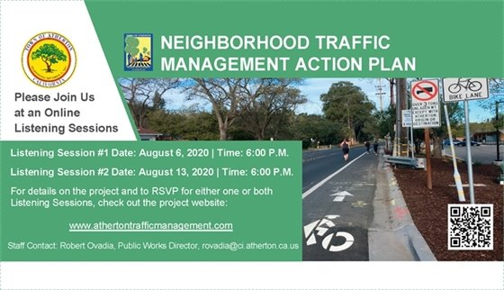 Atherton reviews neighborhood traffic management action plan