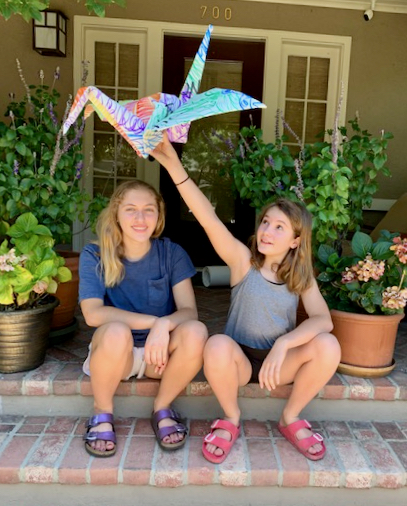 Menlo Park sisters get involved with The Peace Crane Project on display at ArtVentures Gallery