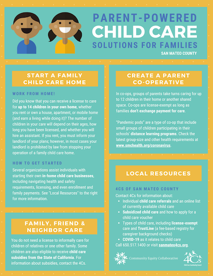 New resource on parent-powered child care from Community Equity Collaborative